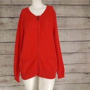 Allison Daley Zip up Cardigan Sweater M